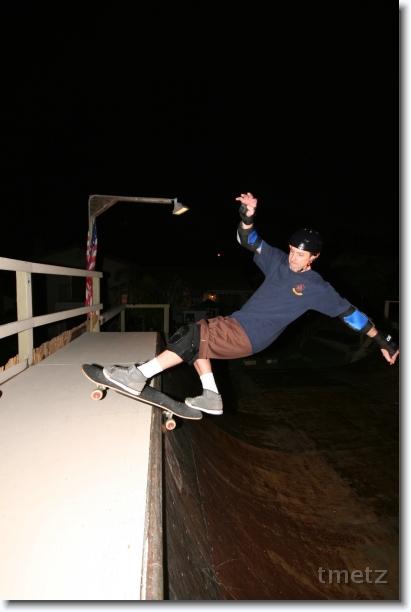 Tim Metz at the Old Bro ramp.